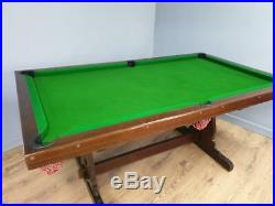 Pool, Snooker and Dining Table With Accessories, Slate Bed, Solid Oak