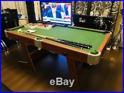 Pool/Snooker table With Balls And Accessories. 6ft folding. Excellent Condition