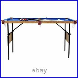 Pool Table 4ft 6in Blue with accessory