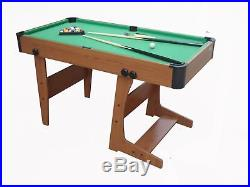 Pool Table 4ft6in Folding Table with Accessories Included Gamesson Eton L Foot