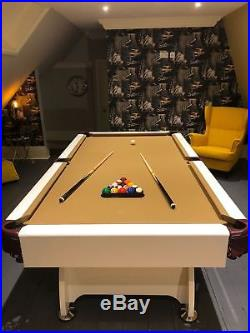 Pool Table 6FT High Gloss Slate Bed Multi Games Radley Vintage Free Accessories