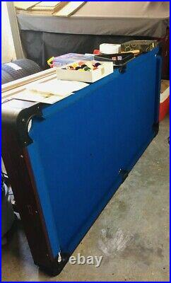 Pool Table 6ft x 3ft Blue Felt Accessories Included