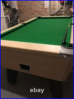 Pool Table 6tf DPT Used Great Condition Light Wooden including accessories