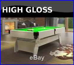 Pool Table 7FT High Gloss Slate Bed Multi Games Radley Vintage Free Accessories