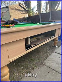 Pool Table 7x4 Mayfair Beech new Cloth +accessories