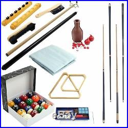 Pool Table Accessory 32 Piece Kit All-in-one Durable Storage case Brush Chalk