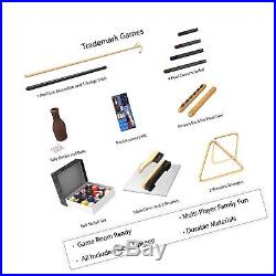 Pool Table Accessory 32 Piece Kit- Billiards Balls, Cues, Stic. Top Daily Deal