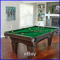 Pool Table Billiards Installed Slate Bed Cues Wood Club Pub Quality Accessories
