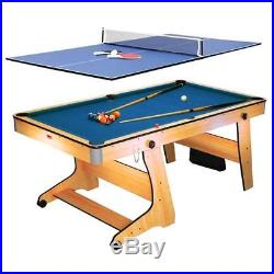Pool Table Billiards Table Tennis 2in1 Game Ping Pong Folding Accessories Set