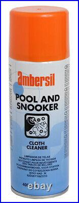 Pool Table Cleaning Valet Kit, 2 Brushes, Cloth Cleaner Spray & 12 Green Chalks