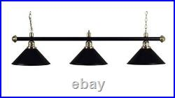 Pool Table Light Black Bar with 3 Black Shades