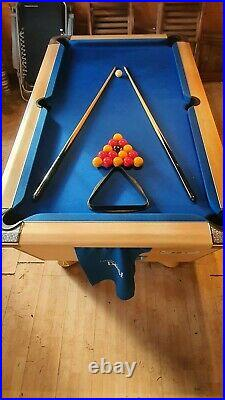 Pool Table-'Supreme' Slate Bed 6'1 x 3'7 Pool Table complete with accessories