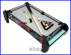 Pool Table-Tabletop Mini Pool Table Set and Accessories, 38 Inch Mini Pool Table