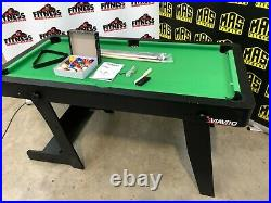 Pool Table VIAVITO 5ft Folding Brand New with Ping Pong Table Top & Accessories