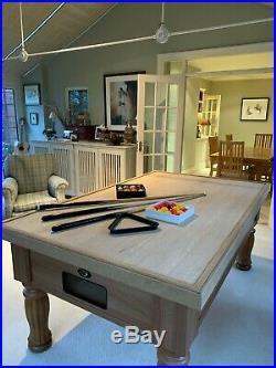 Pool Table in OAK with Bespoke Oak Topper Made by DPT (UK) Accessories Included