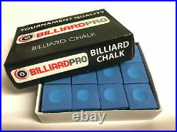 Pool Tables 2 Brushes Cloth Cleaning Re Mark & Valet Kit & 12 Blue Chalks