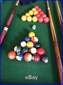 Pool table 107cm X 185 cms And Accessories