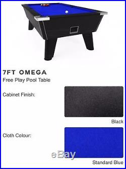 Pool table 7ft Omega Mint Condition, accessories Incl full size table tennis top