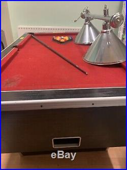 Pool table, Ex pub, Used Good Condition. With Cues Balls, Accessories And Lights