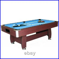Pool table snooker table 7ft blue brown frame with accessories luxury