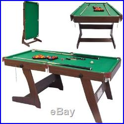 Portable 6ft Pool Table Billiards Snooker Pool Table With Balls And Accessories