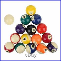 Professional Billiard Ball Complete Set 2.3in Resin Pool Table Accessories