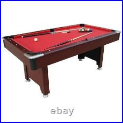 Pub pool table green red 6ft new with accessories sticks delivery