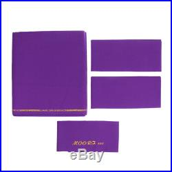 Purple M00RI500 Worsted Pool Table Cloth 9ft Table, Bed Cloth & Cushion Strip