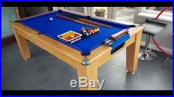 Quality Optima Slate Bed Roma Pool Dining Table 6x3 With Accessories Hardly Used