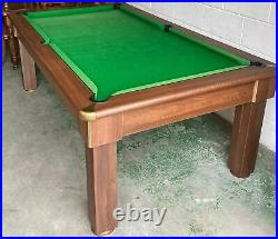 Quality Tuscany 7 foot x 4 Foot Slate Bed Dining Table Pool Table + Accessories