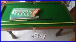 RILEY POOL TABLE DINING TABLE SLATE BED WITH Accessories