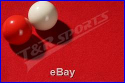 Red Double-sided Wool Pool Snooker Table Top Cloth Felt for 9'' Tables UK