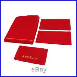 Red M00RI500 Worsted Pool Table Cloth 9ft Table Bed Cloth & Cushion Strip