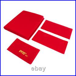 Red Worsted Pool Table Cloth 9ft Table Fast Billiard Felt with Cushion Strip