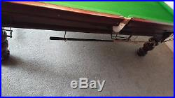 Refurbished Wright & Co 3/4 Slate bed Snooker Pool Table and Accessories Bundle