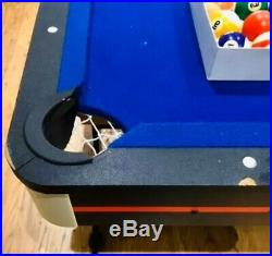 Riley Folding Pool Table 5ft x 2.5ft Blue. With All Accessories Included