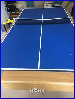 Riley Folding Pool Table 6ft 6In, complete with table tennis top and accessories