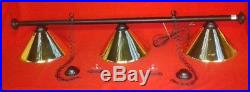 Rosetta Leather Black Or Brown Pool Snooker Table Light Col Shade Lighting Lamps
