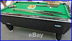 SAM LEISURE Atlantic 7ft American Pool Table with Balls, Cues & Accessories D37