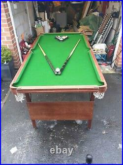 SNOOKER/POOL TABLE 6ft X 3ft With Accessories Excellent Condition