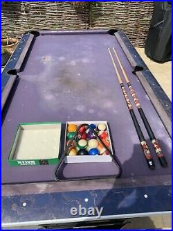 Sam 8ft Pool Tables with Accessories Needs Resurfacing