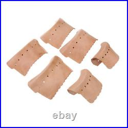 Set of 6 Pieces Snooker or Pool Billiards Table Pocket Leather Small Size