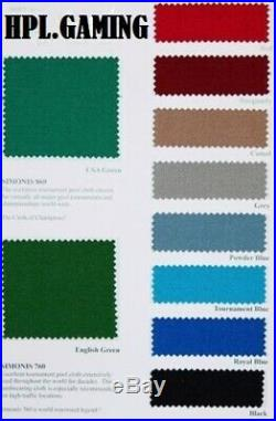 Simonis UK 6ft or 7ft Pool Cloth Bed & Cushion Set Various Colours