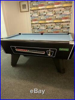 Slate Bed Pool Table Supreme, Strachan Cloth, 6x3 Foot, Coin Op And Accessories