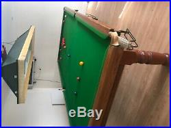 Slate bed 10 x 5 Snooker Table with snooker & pool ball & all accessories