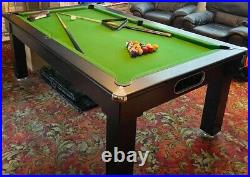 Slate bed pool table 7ft X 4ft With Accessories