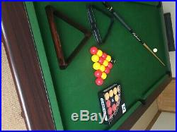 Slate bed snooker pool dining table with accessories (excellent condition) 7x4