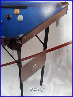 Snooker And Pool Table 4Ft 6In Foldable Small Kids Adults With All Accessories