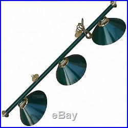 Snooker Pool Table Light Green Canopy Lights