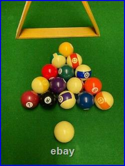 Snooker / pool table plus full sets of balls